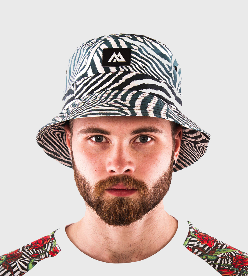 ed44737c5b7f1 Wu Buck Zebra Bucket Hat